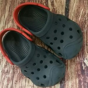 Crocs swiftwater blue & red sz 8 (toddler)